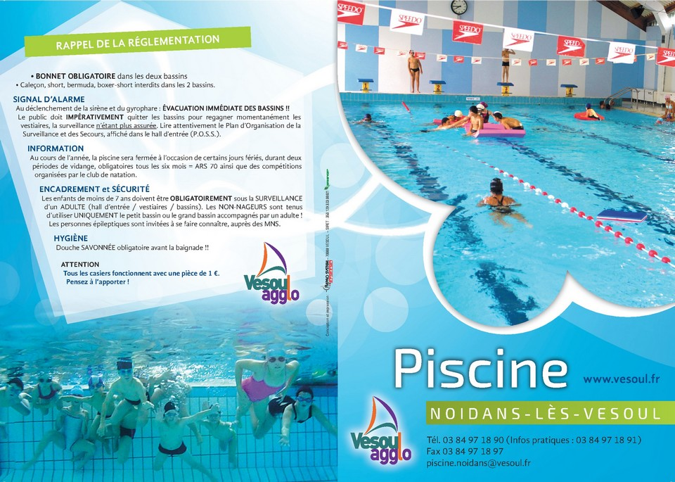 Horaires piscine for Horaire piscine pontivy