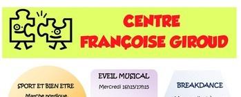 Reprise des activités au Centre Françoise GIROUD